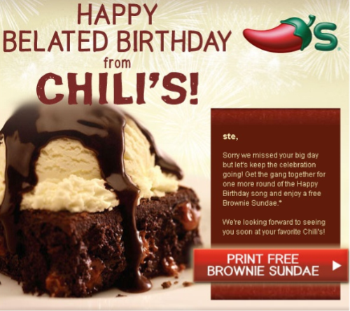 Ok Remember When I Told You Yesterday That Sign Up For Chilis Email Newsletter Dont Just Get The Free Chips And Queso Coupon But They Send