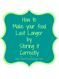 how to make your food last longer