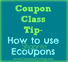 how to use shoprite ecoupons