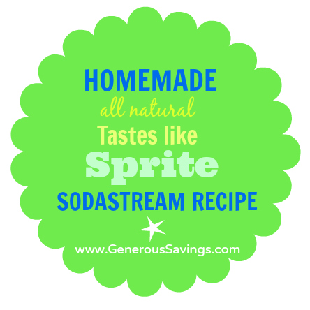 Homemade sodastream recipe sprite