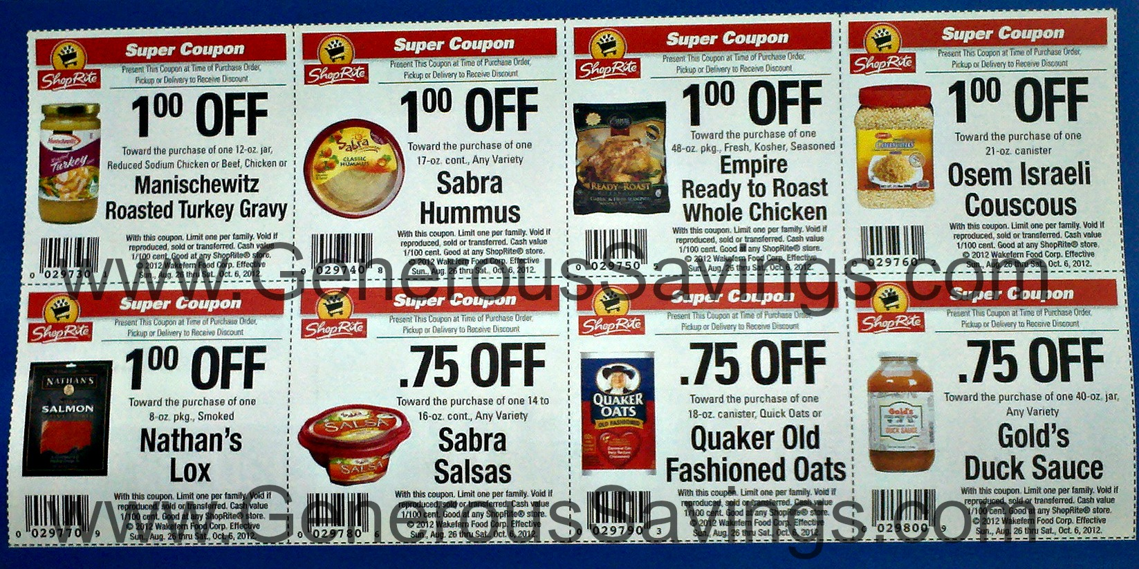 Shoprite coupons in store