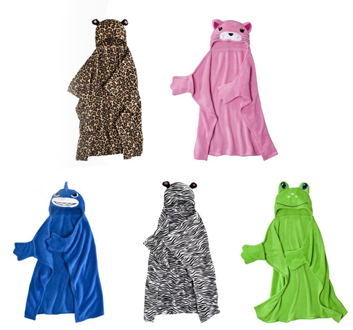 animal hooded blankets