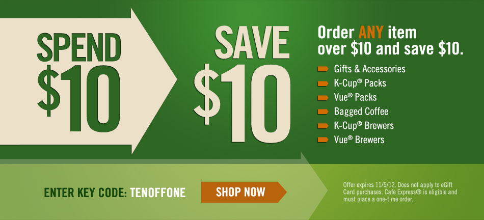 green mountain save 10 coupon code