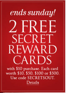 victoria's secret 2 rewards cards