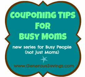 couponing 101 for busy moms