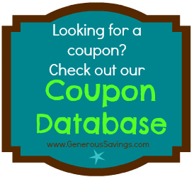 generous savings coupon database