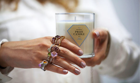 Just 15 all natural soy candle hidden ring inside valued between