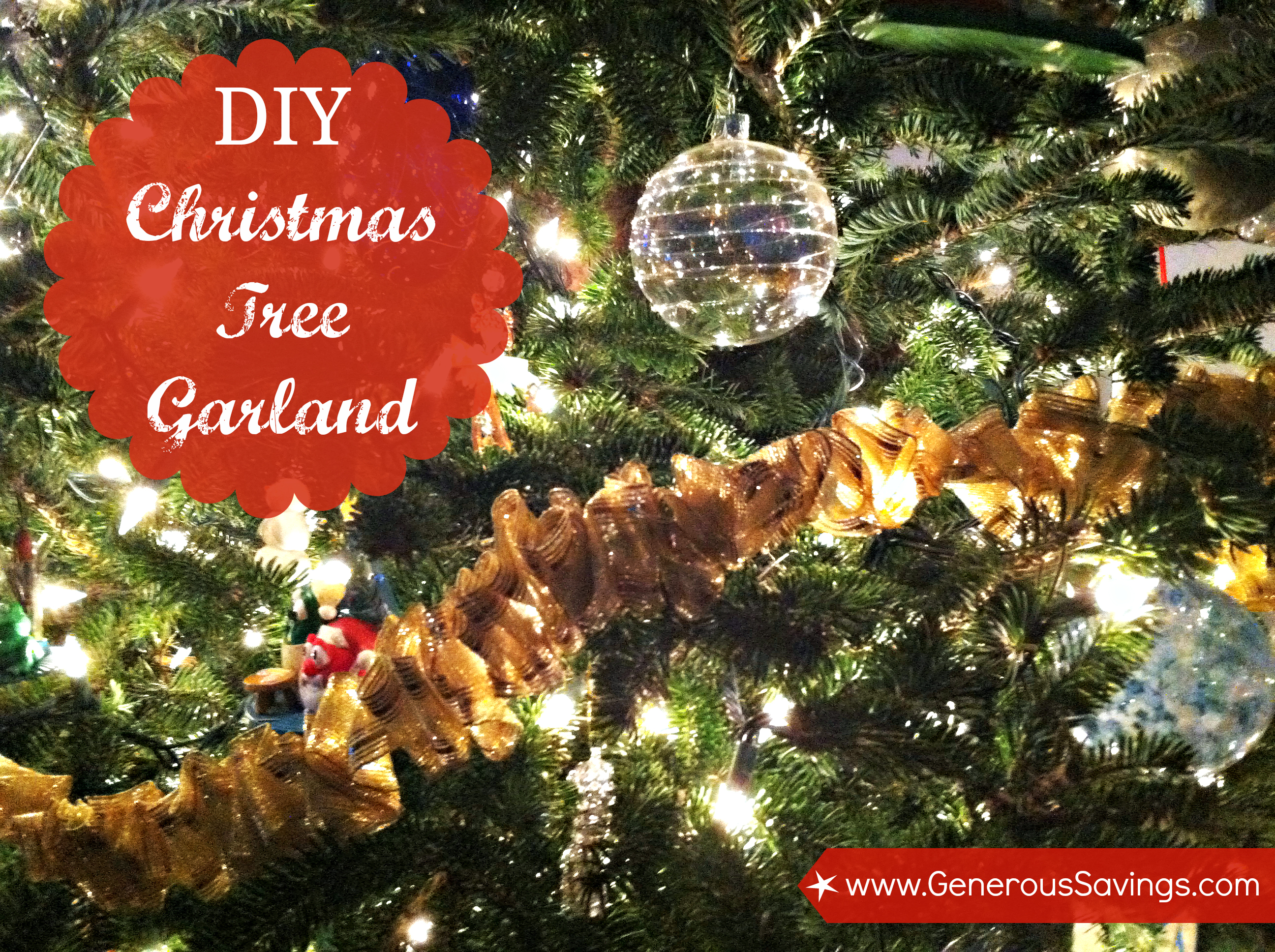 Diy Christmas Tree Ribbon Garland 2