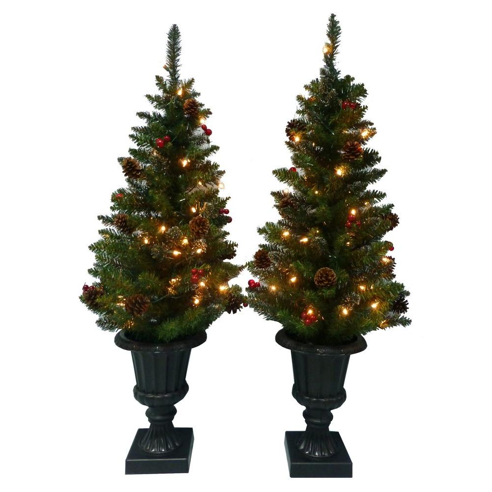 Martha stewart 48 pre lit trees ea generous for Home depot christmas decorations 2013