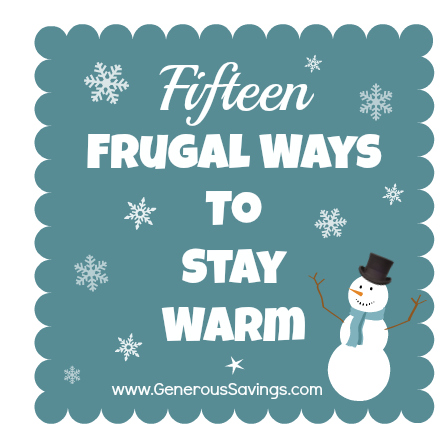 frugal ways to stay warm