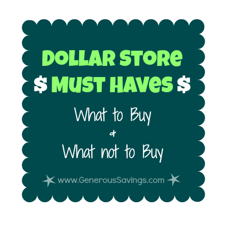 What to Buy at the Dollar Store